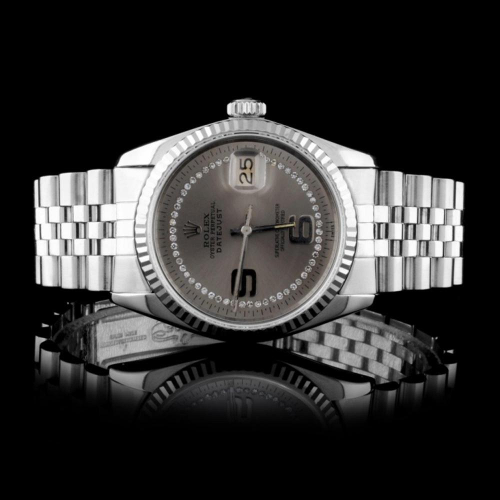 Rolex SS DateJust Diamond 36MM Watch