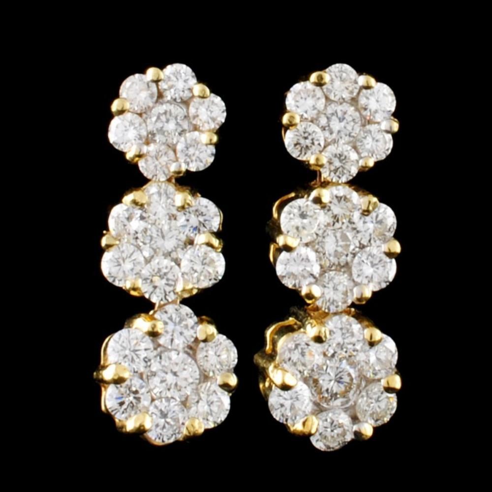 18K Yellow Gold 1.95ctw Diamond Earrings