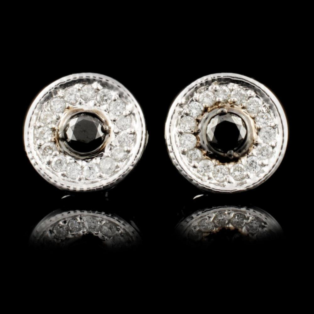 14K Gold 0.35ctw Fancy Color Diamond Earrings