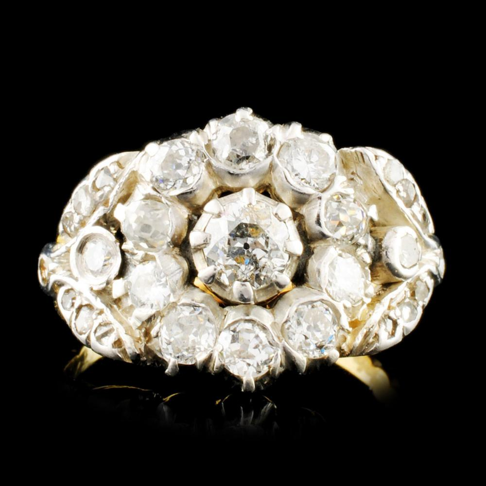 14K Gold 1.32ctw Diamond Ring