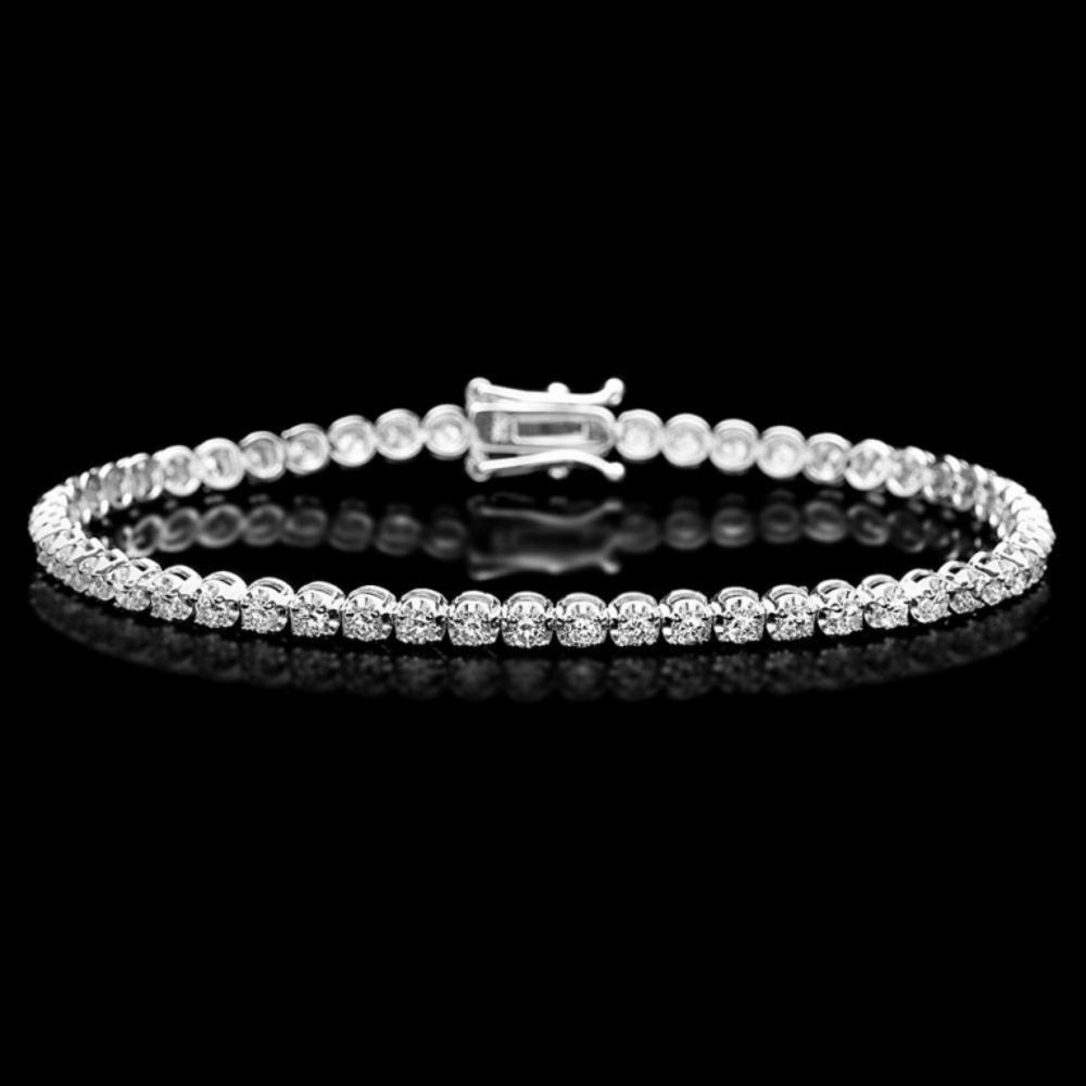 ^18k White Gold 3.00ct Diamond Bracelet