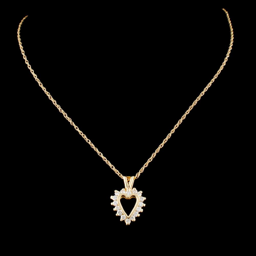 14K Gold 0.36ctw Diamond Pendant