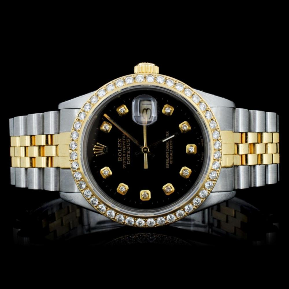 Rolex YG/SS DateJust Diamond 36MM Watch