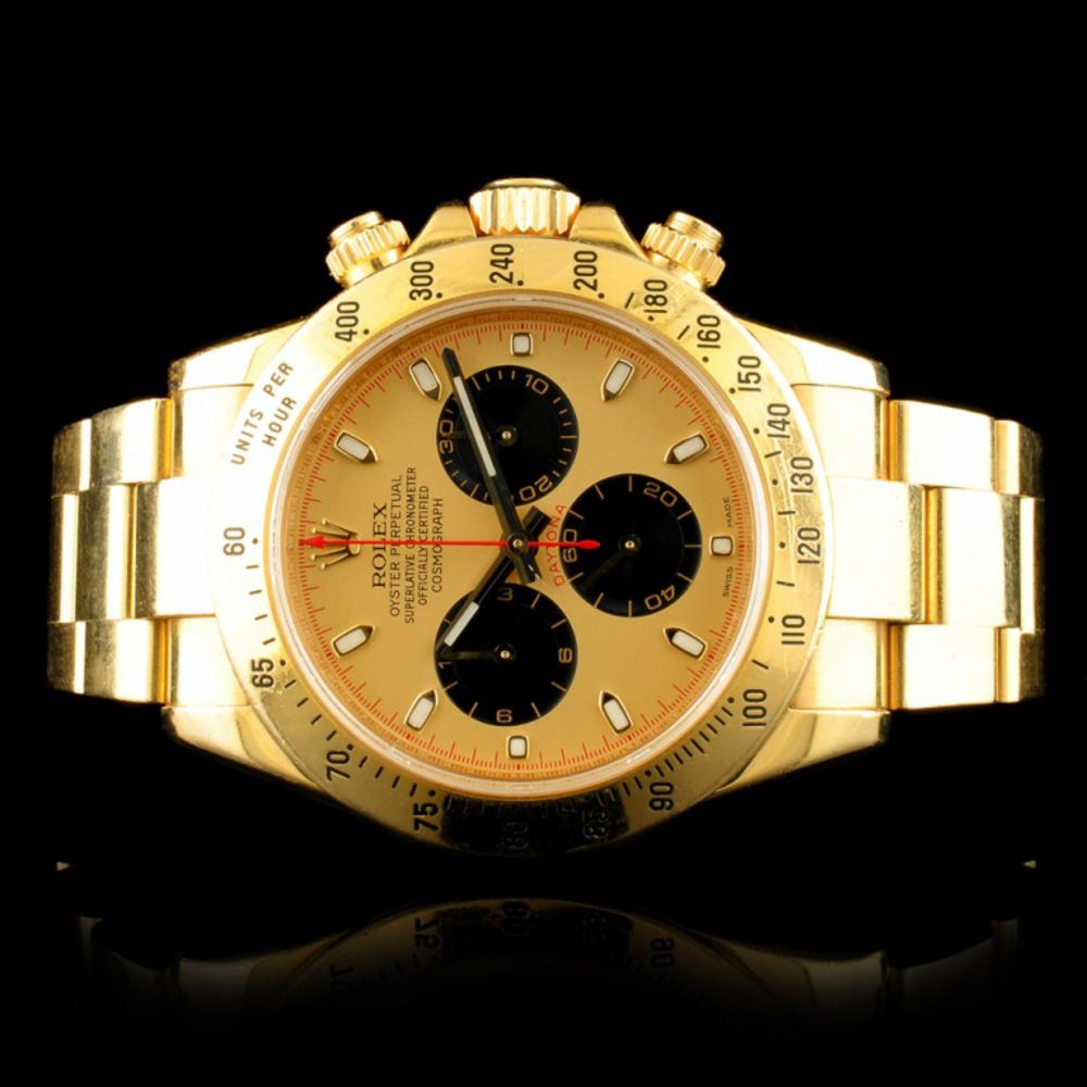 Rolex DAYTONA Paul Newman 18K Gold 40MM Wristwatch
