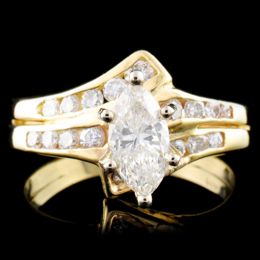 14K Gold 1.19ctw Diamond Ring