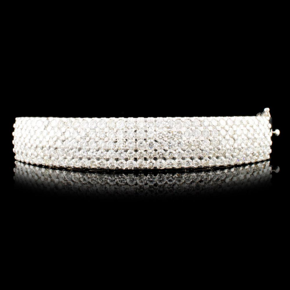 14K Gold 6.15ctw Diamond Bangle