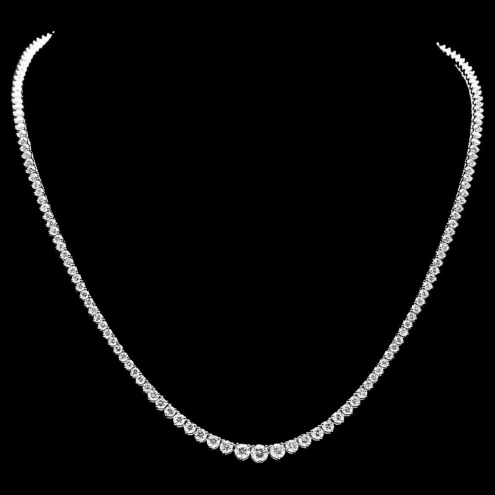 ^18k White Gold 10.00ct Diamond Necklace