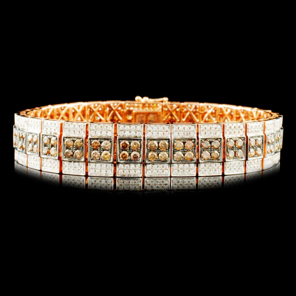 14K Gold 6.36ctw Diamond Bracelet