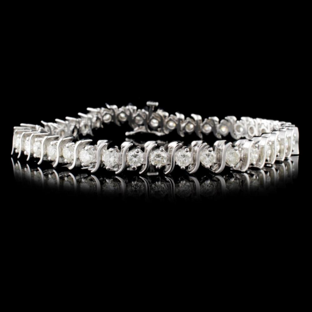 14K White Gold 5.00ctw Diamond Bracelet