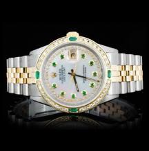Rolex YG/SS DateJust Men's 1.50ct Diamond Watch