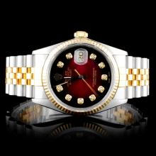 Rolex Two-Tone DateJust Diamond Wristwatch