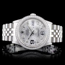 Rolex SS DateJust 1.50ctw Diamond Ladies Wristwatc