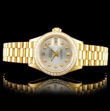 Rolex DateJust 18K YG Diamond 26MM Watch