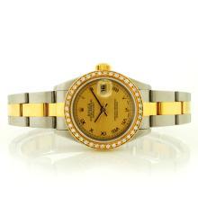Rolex DateJust 18K/SS Diamond Roman Ladies 79173 Q