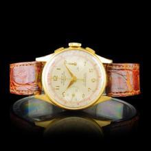 MEPA Swiss 18K Gold 17-Jewel 34mm Chronograph