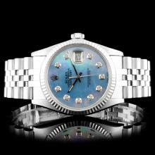Rolex DateJust SS Diamond Wristwatch