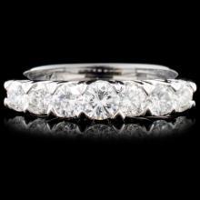 Solid Platinum 1.00ctw Diamond Ring