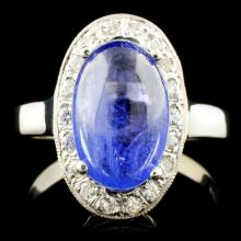6014K Gold 3.00ct Tanzanite & 0.70ctw Diamond Ring