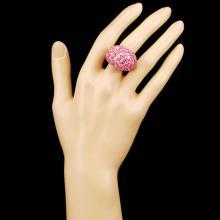 Lot 4: 18K Gold 14.18ct Sapphire & 0.71ctw Diamond Ring