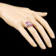 Lot 14: 18K Gold 1.30ct Ruby & 0.18ctw Diamond Ring