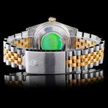 Lot 19: Rolex YG/SS DateJust Diamond 36MM Watch