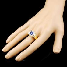 Lot 26: 18K Gold 1.05ctw Sapphire & 0.56ctw Diamond Ring