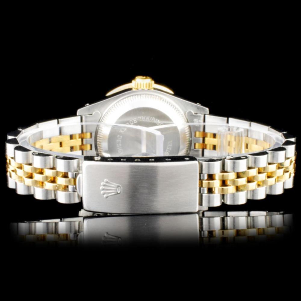 Lot 29: Rolex YG/SS DateJust Ladies Roman Ivory Wristwatch