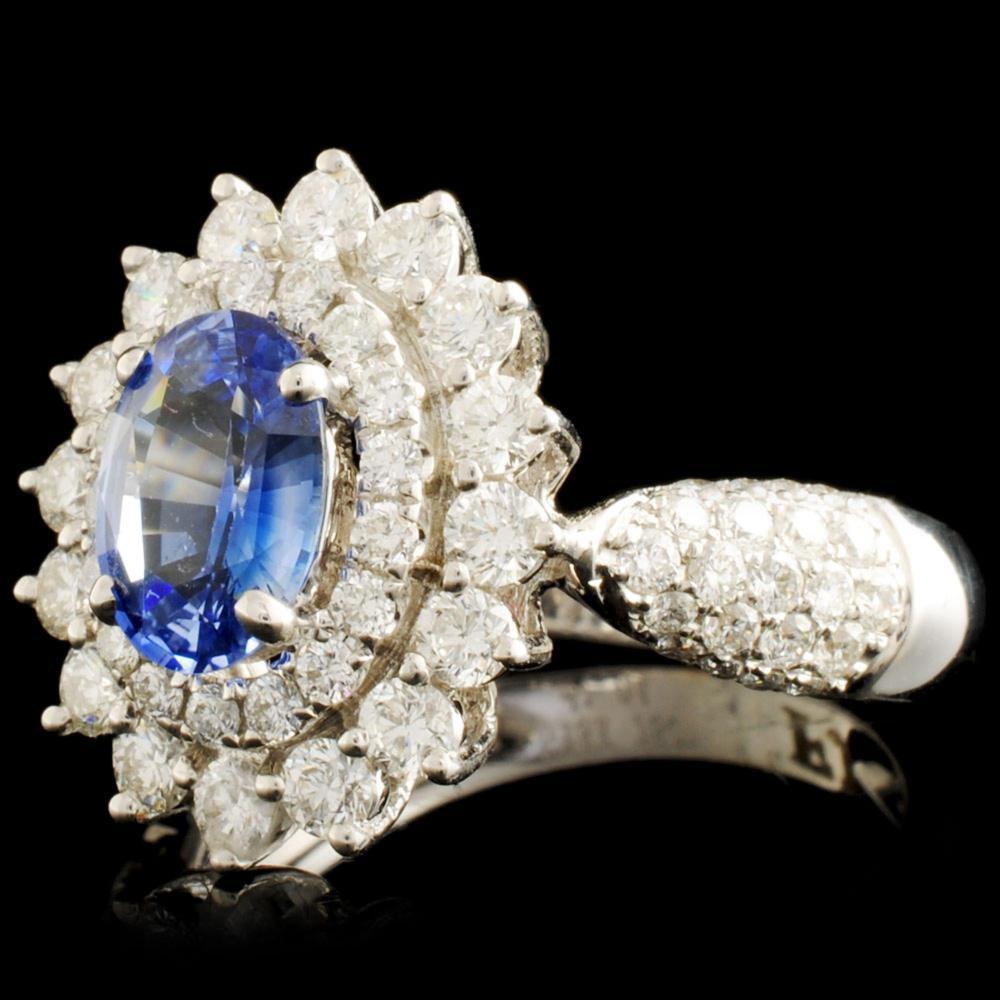 Lot 36: 18K Gold 0.99ct Sapphire & 1.04ctw Diamond Ring