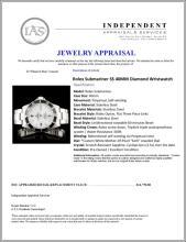 Lot 39: Rolex Submariner SS 40MM Diamond Wristwatch