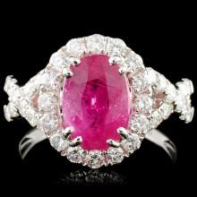 Lot 42: 18K Gold 2.81ct Ruby & 1.00cw Diamond Ring