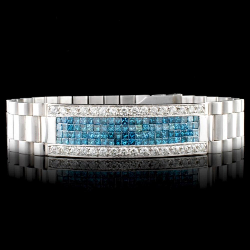 Lot 45: 18K Gold 7.27ctw Men's Diamond Bracelet