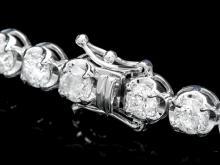Lot 48: ^18k White Gold 10.00ct Diamond Tennis Bracelet