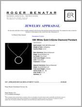 Lot 50: 18K White Gold 0.62ctw Diamond Pendant
