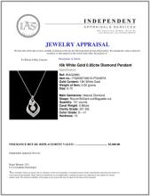 Lot 60: 18k White Gold 0.85ctw Diamond Pendant