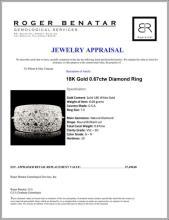 Lot 61: 18K Gold 0.67ctw Diamond Ring