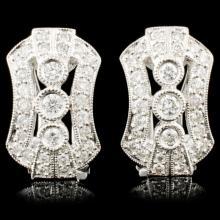 Lot 62: 18K Gold 0.68ctw Diamond Earrings