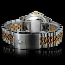 Lot 69: Rolex YG/SS DateJust Diamond 36mm Watch