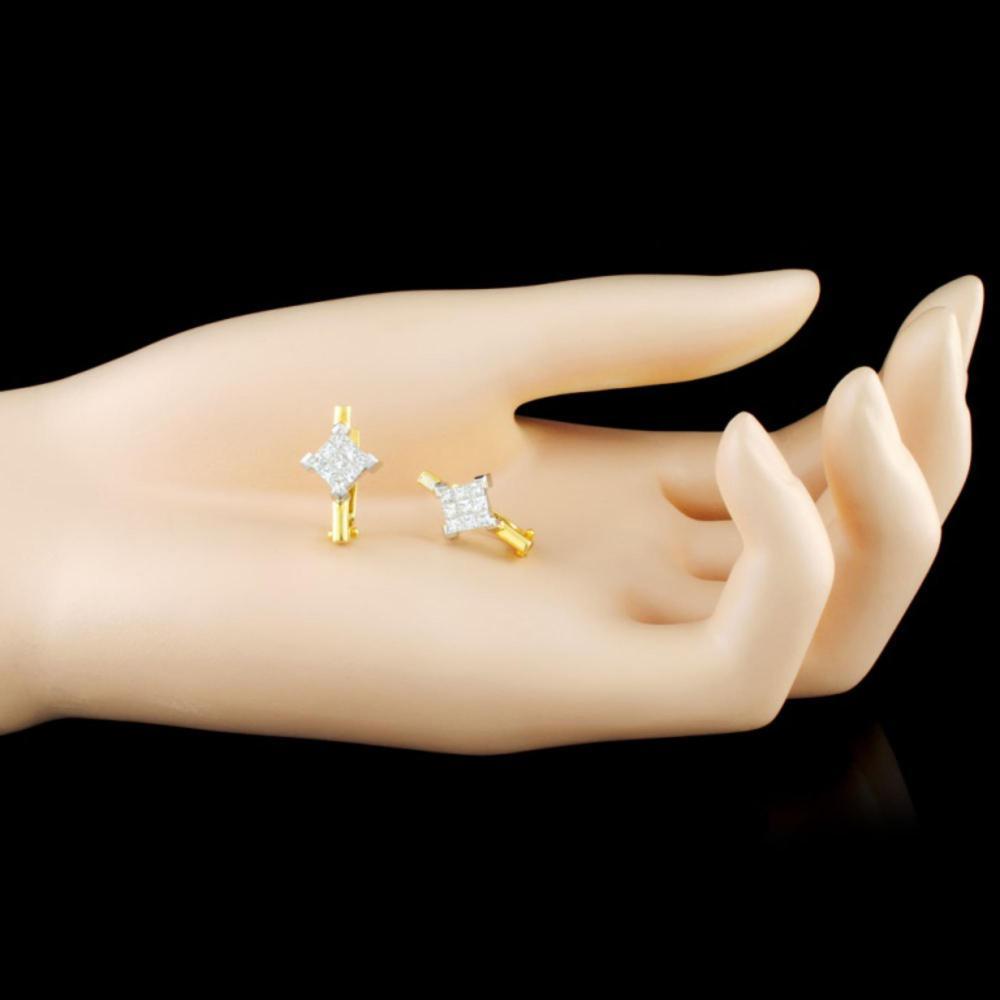 Lot 76: 18K Gold 1.00ctw Diamond Earrings