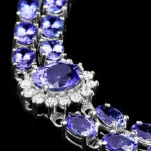 Lot 78: `14k Gold 21.00ct Tanzanite & 1.55ct Diamond Brace