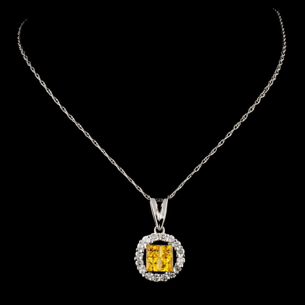 Lot 82: 18K Gold 0.75ctw Sapphire & 0.44ctw Diamond Pendan