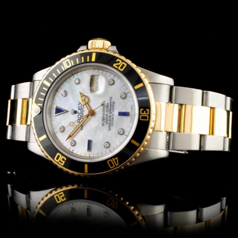 Lot 89: Rolex Submariner YG/SS 40MM Wristwatch