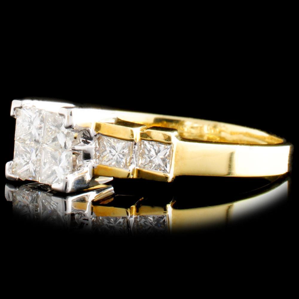 Lot 95: 18K Gold 0.75ctw Diamond Ring