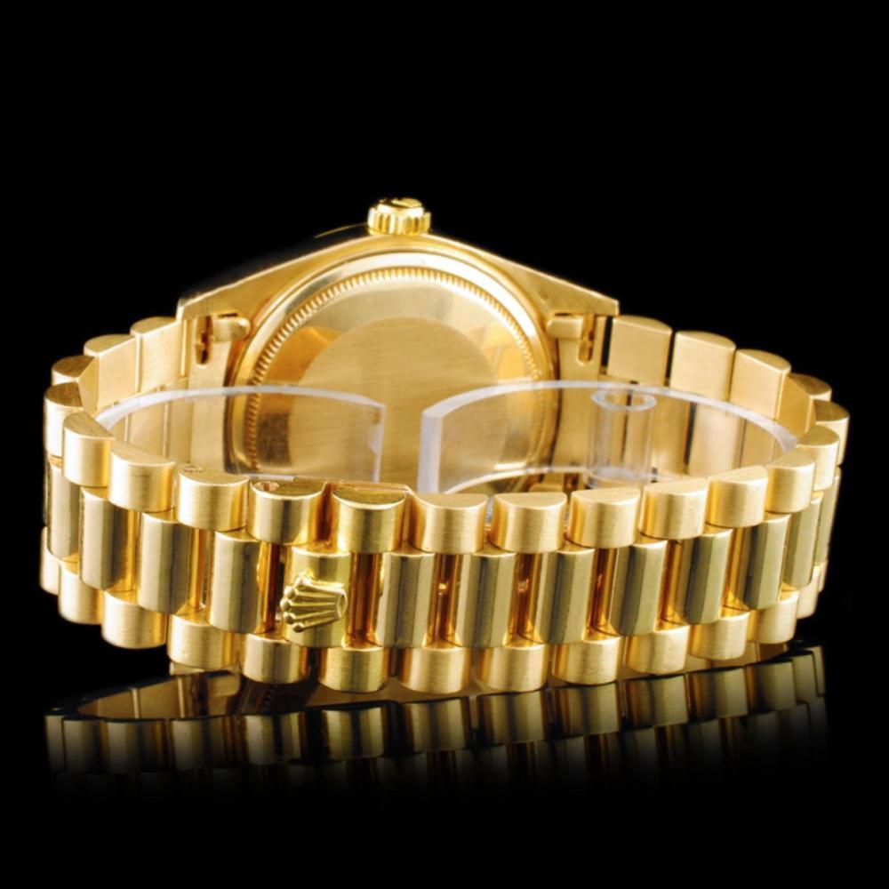 Lot 99: Rolex Day-Date 18K YG Diamond 36mm Wristwatch