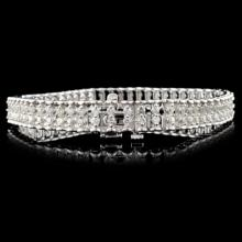 Lot 102: 14K Gold 3.00ctw Diamond Bracelet