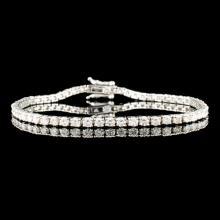 Lot 114: 14K Gold 3.73ctw Diamond Bracelet