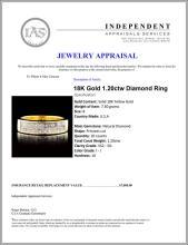 Lot 115: 18K Gold 1.20ctw Diamond Ring