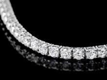 Lot 118: ^18k White Gold 7.00ct Diamond Bracelet