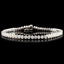 Lot 124: 14K Gold 3.78ctw Diamond Bracelet