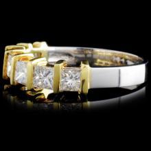 Lot 125: 18K Gold 1.20ctw Diamond Ring