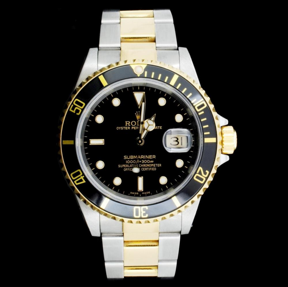 Lot 139: Rolex Submariner 18K & Stainless Steel 40MM Watch